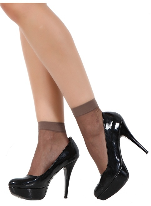 Pierre Cardin 5'Li Parlak Soket Çorap Vizon